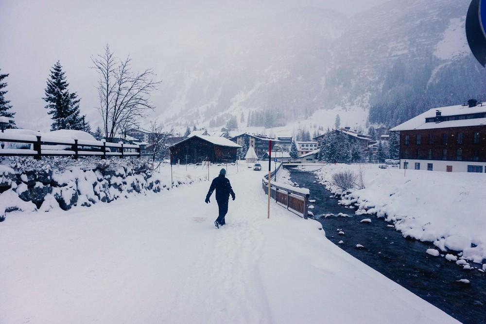 A snowy Lech, Austria.