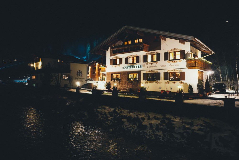 Lech, Austria by night.