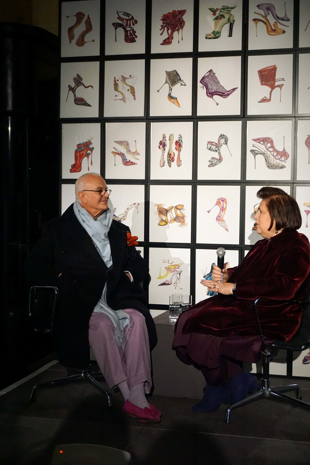 Manolo Blahnik speaking at the Press Release in the Burlington Arcade, Mayfair.