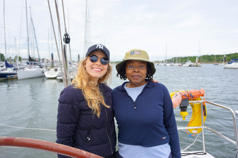 Kat Caprice Meets Caribbean & Co. founder at the Bermuda Tourism event in Southampton