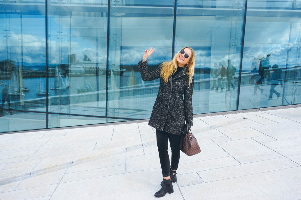 Kat Caprice visiting the Oslo Opera House