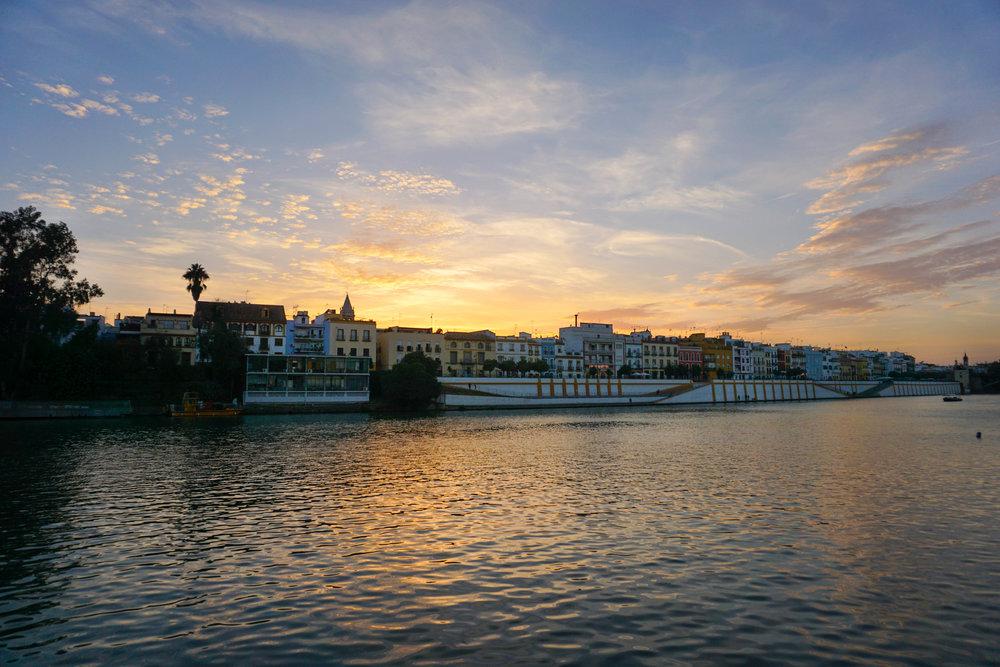 River of Seville, Spain. Travel Guide to Seville.