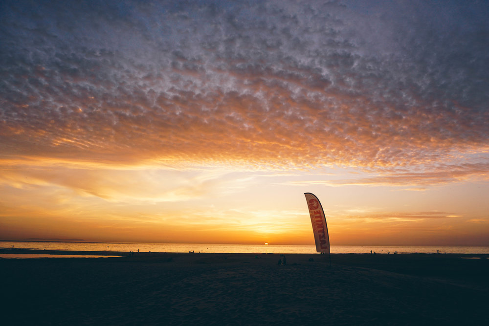 Sunsets of Tarifa, Spain a kitesurfers paradise.