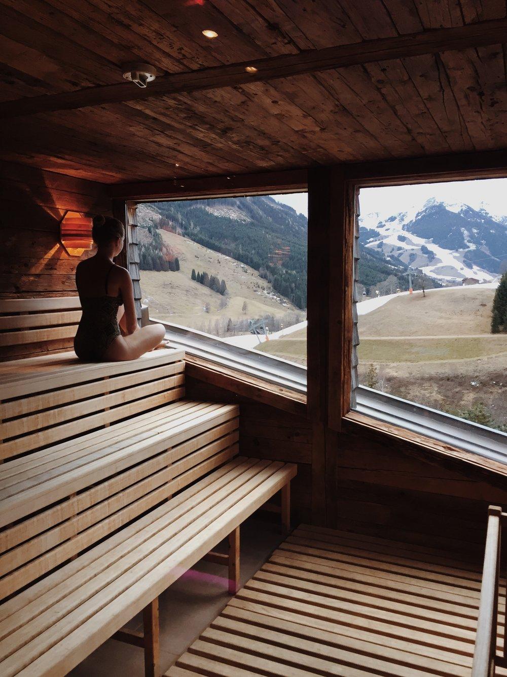Sauna in Hotel Art & Ski in Hinterhag, Saalbach Hinterglemm, Austria