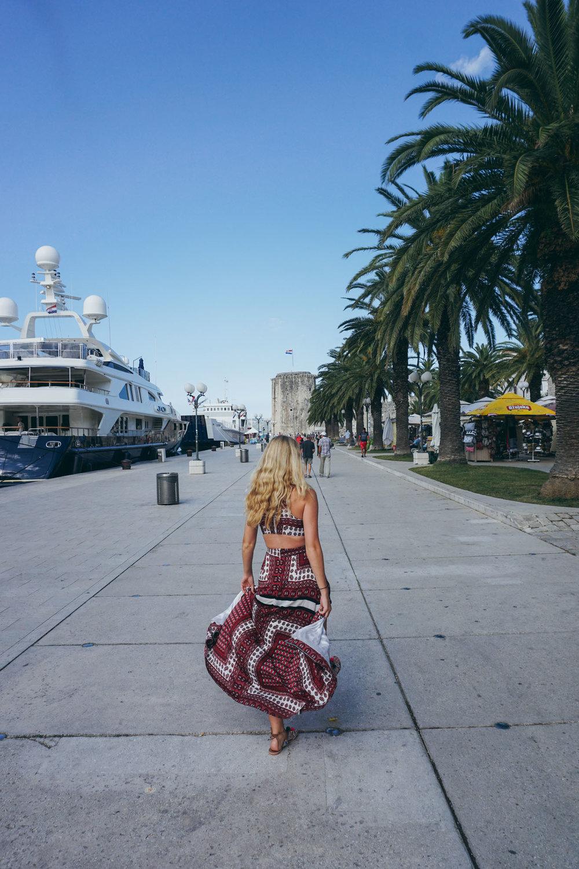 Kat Caprice in Trogir, Croatia