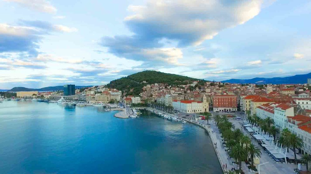Drone photography of Croatia (Split)