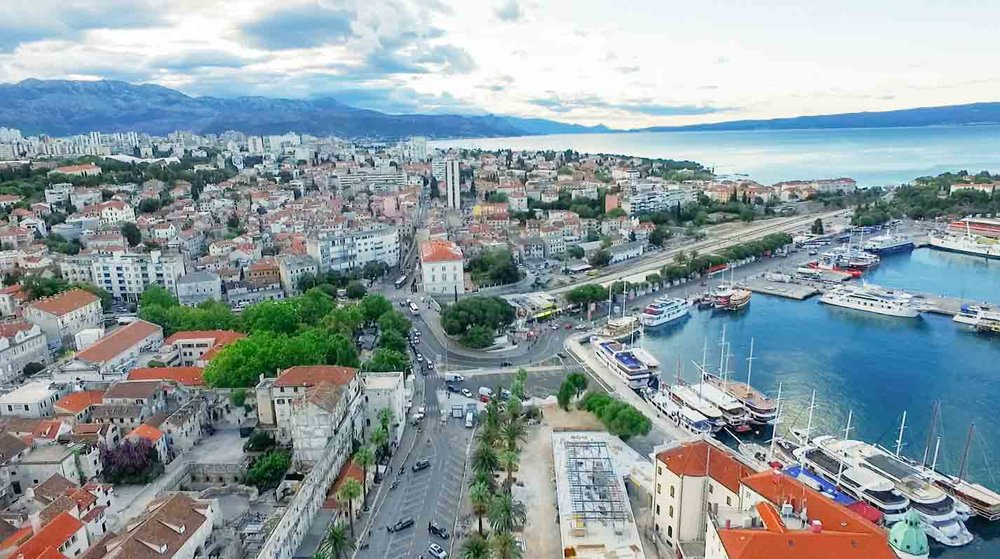 Drone photography in Split, Croatia.