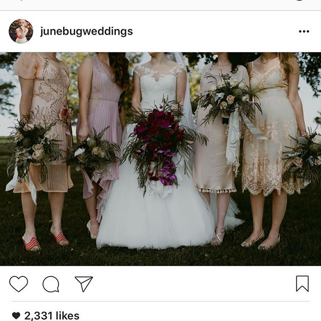 I'm a little sheepish, a little excited and very honored that our wedding is featured on @junebugweddings today! @jhochend