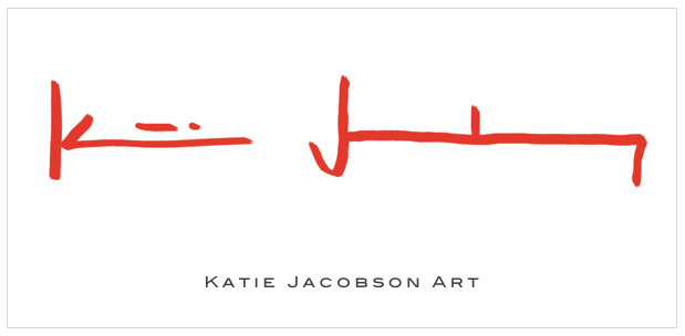 katie jacobson art logo