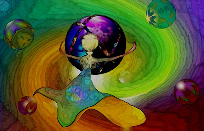 Colouring Mother Earth with our love...