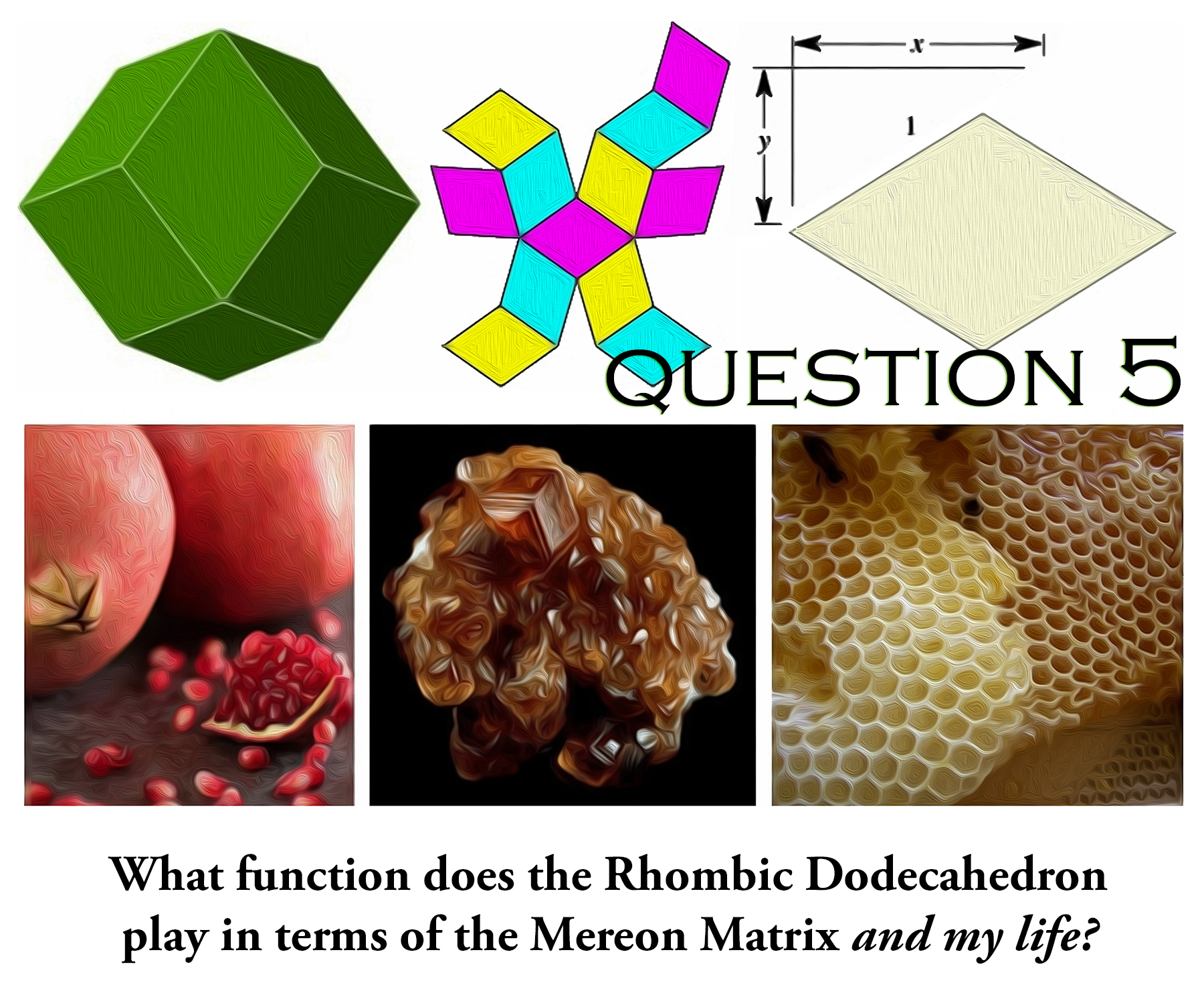 Rhombic Dodecahedron in form and nature