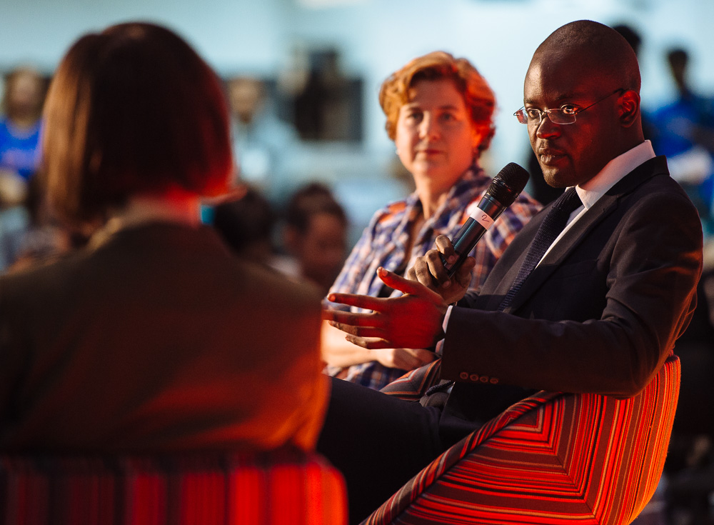 Jenny Toomey and Simeon Oriko, Mozfest 2015, London
