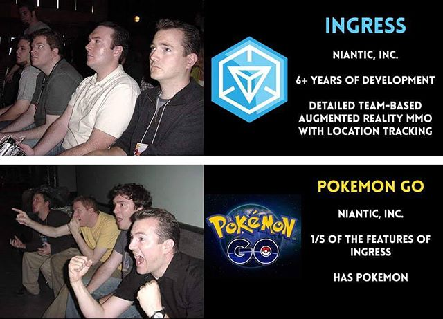 Resonating is the first thing your product should do. This is a perfect example of the difference in experiences and engagement. #pokemongo #gamedesigner #gamer #gamedesign #education #wmif