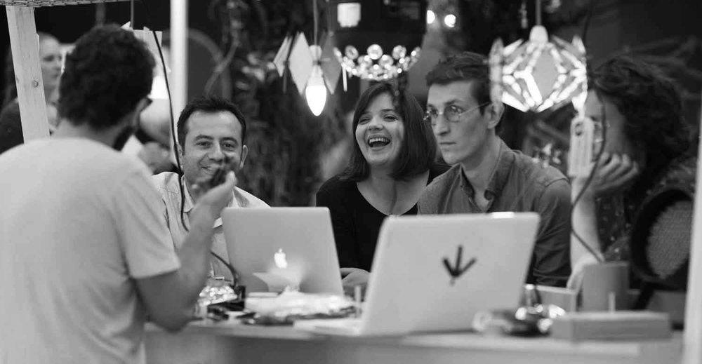 Nelson Santos & Caroline Santos at Maker Carousel, 100% Design, London