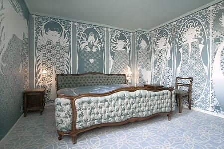 German illustrator Birgit Amadori created a room rich in myth and fairytale.