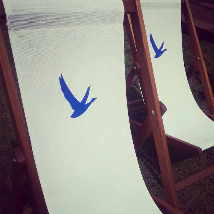 Dandelyan's elegant screenprinted deckchairs