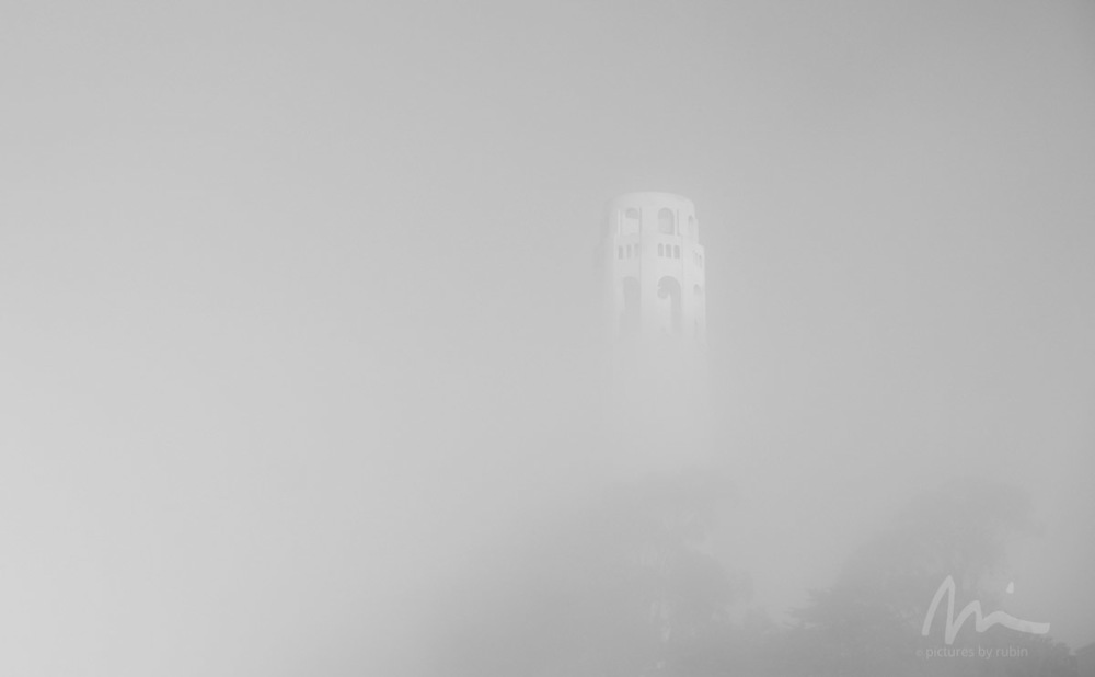 Coit Tower, Fog, 2015