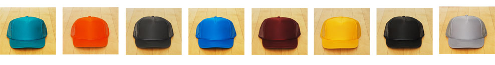 The hat colors to choose from