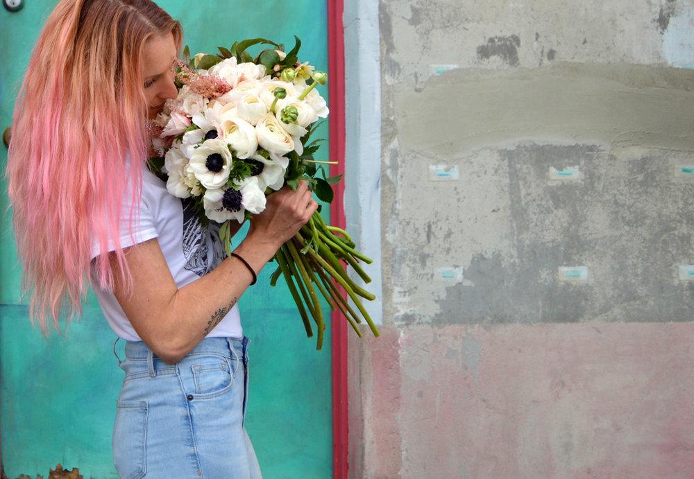 pinkhairandvdayflowers.jpg