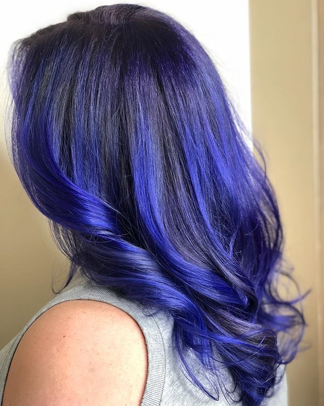 How can you feel blue looking at this work of art?! 💙 Hair by Michael Kuhn (@hairbymdk) #nofilterneeded