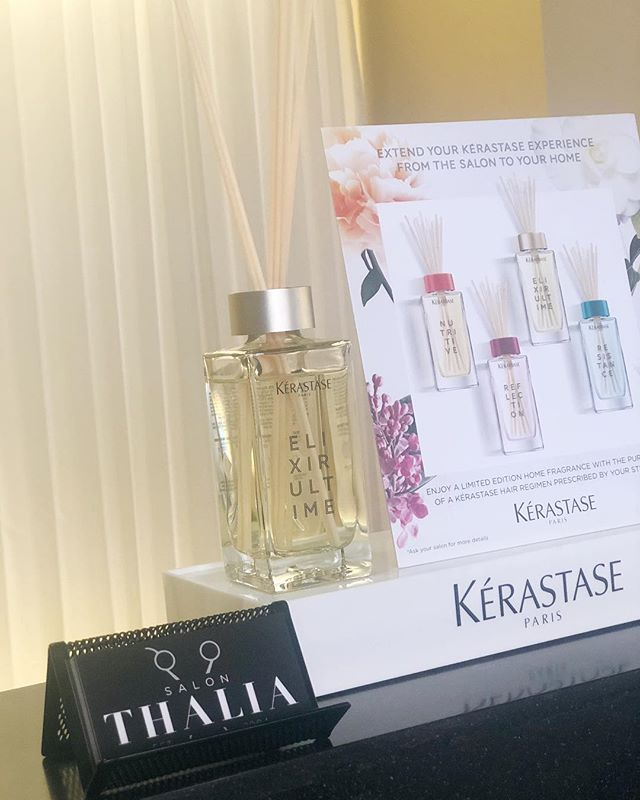 All month long, @salon_thalia has @kerastase_official Limited Edition Home Fragrance available with the purchase of (3) full size Kerastase products or spend $120 in Kerastase products! Great idea for the special woman in your life this month for Mother's Day, or for yourself to make your room smell just like your hair! While supplies last, limit (1) per customer.