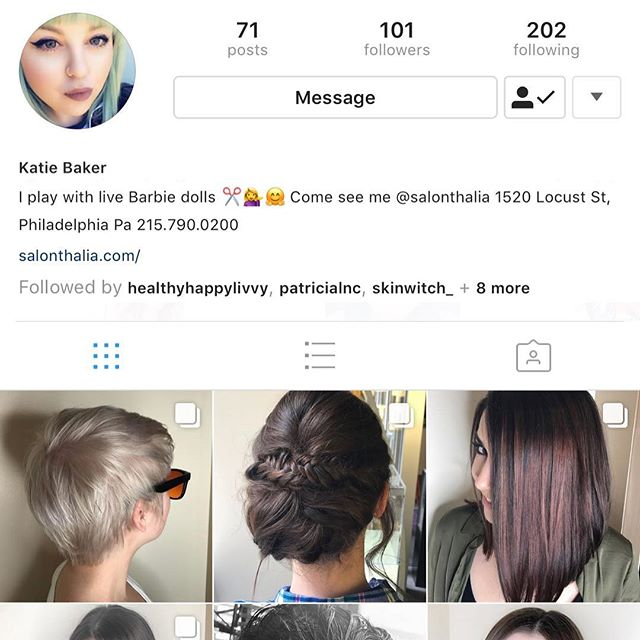Please give a FOLLOW to our stylist Katie Baker's NEW hair page, (@kateb_hair) She lost her old account, so show her some love! 💕