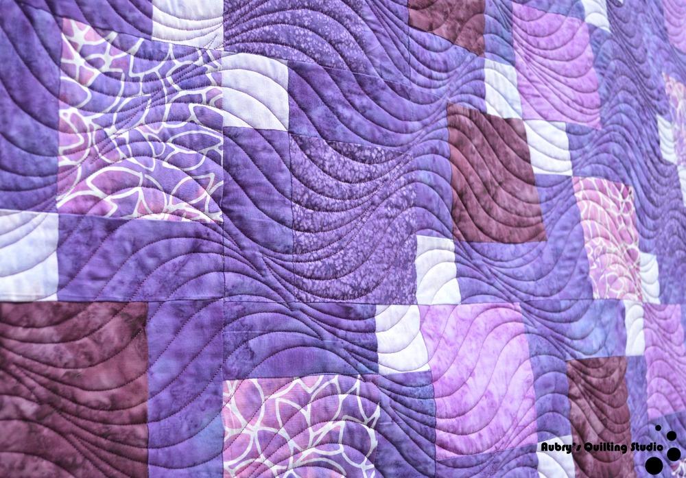 Purple Charm Quilt | Aubry's Quilting Studio