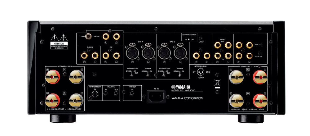 yamaha 39 s flagship 2 channel amplifier a s3000 is a musical. Black Bedroom Furniture Sets. Home Design Ideas