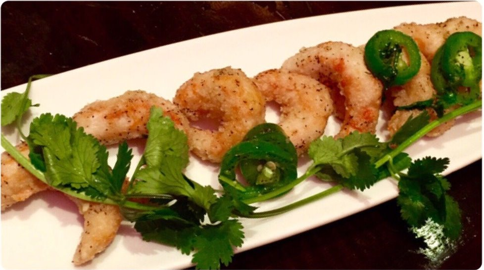 Salt and Pepper Shrimp at Au Lac DTLA