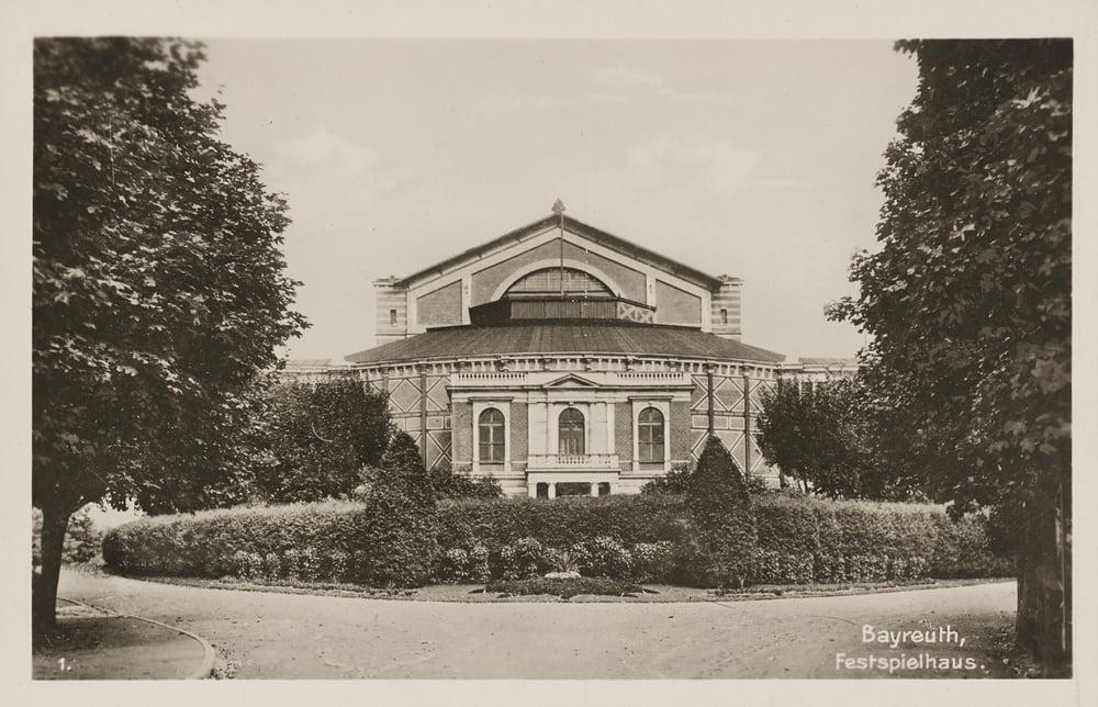 Bayreuth Festspielhaus, circa 1876