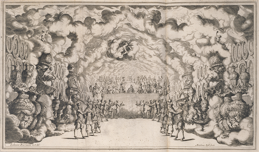The banquet of the Gods, Mathäus Küsel after Lodovico Ottavio Burnacini, 1668