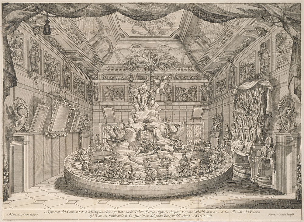 Centerpiece for the feast of Senator Francesco Ratta, 1693