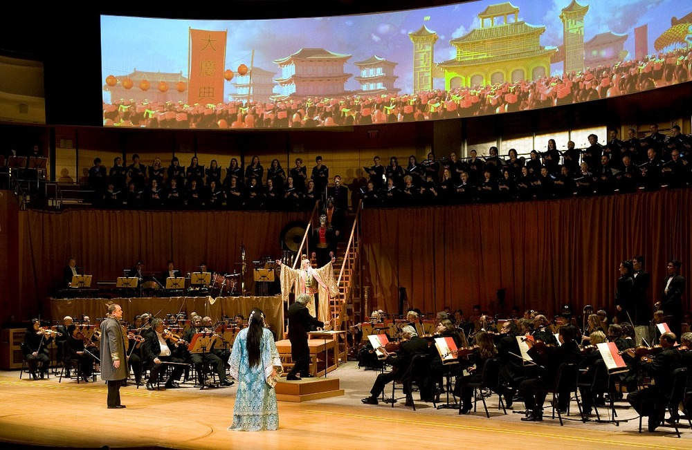 Turandot, Act II, Designed by Eric Einhorn (Photo: Nick Koon)