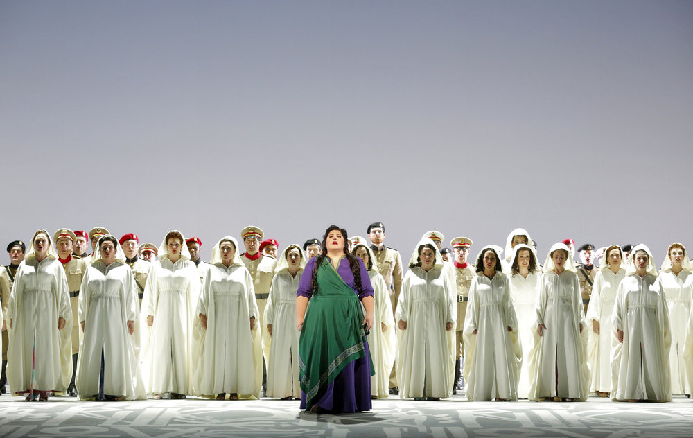 Leah Crocetto as Aida, San Francisco Opera Chorus