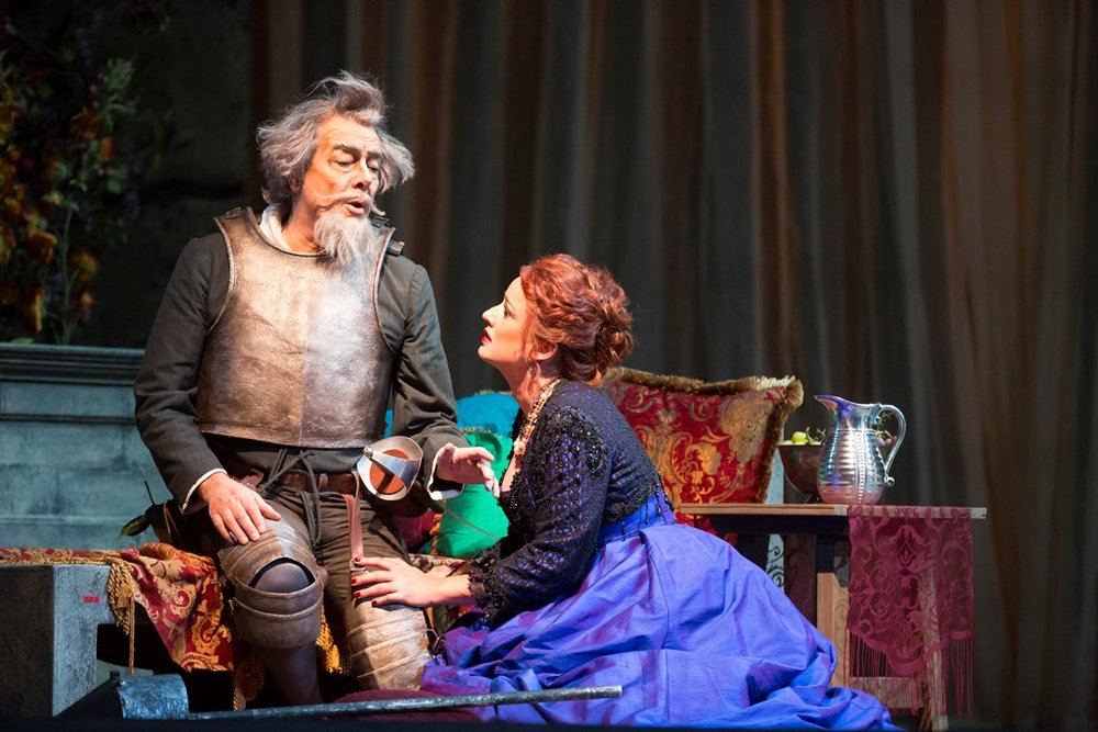 Ferruccio Furlanetto as Don Quichotte, Clementine Margaine as Dulcinee