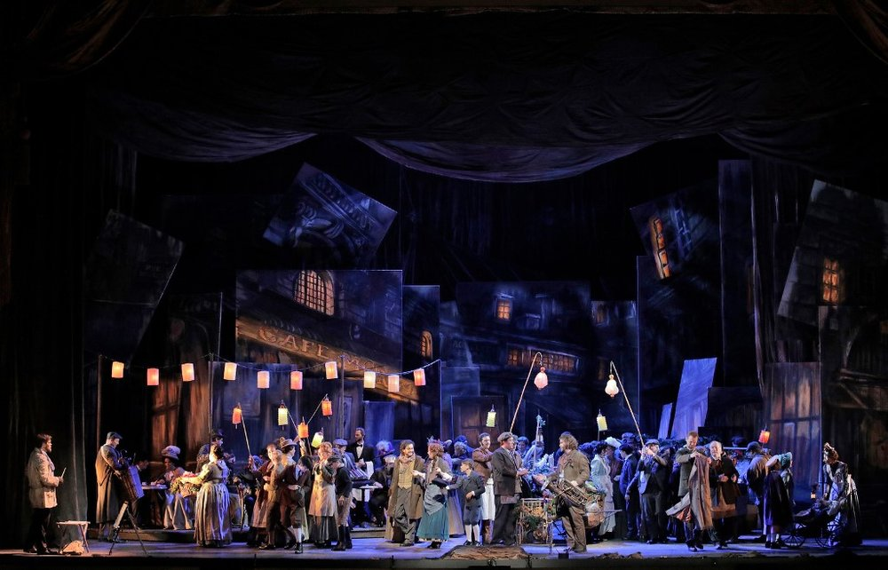 La bohème, Act II