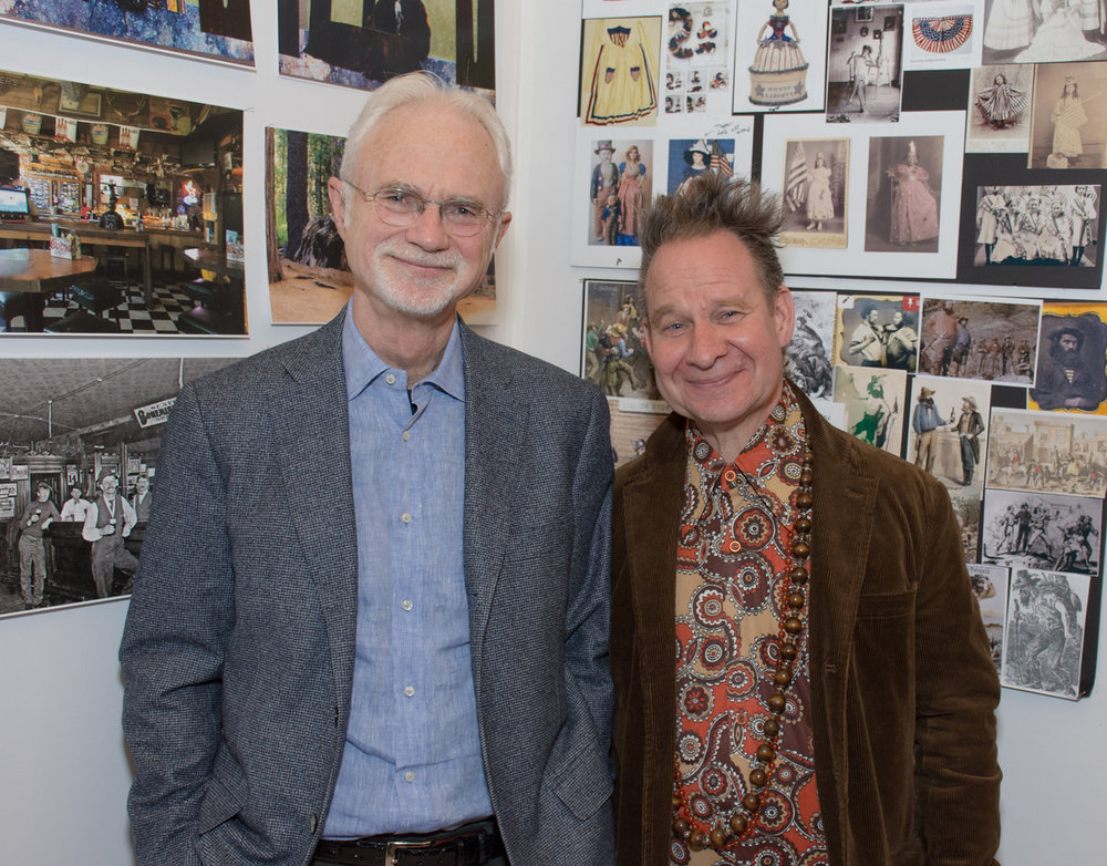 John Adams (composer) and Peter Sellars (librettist/director).  Photo: Scott Wall