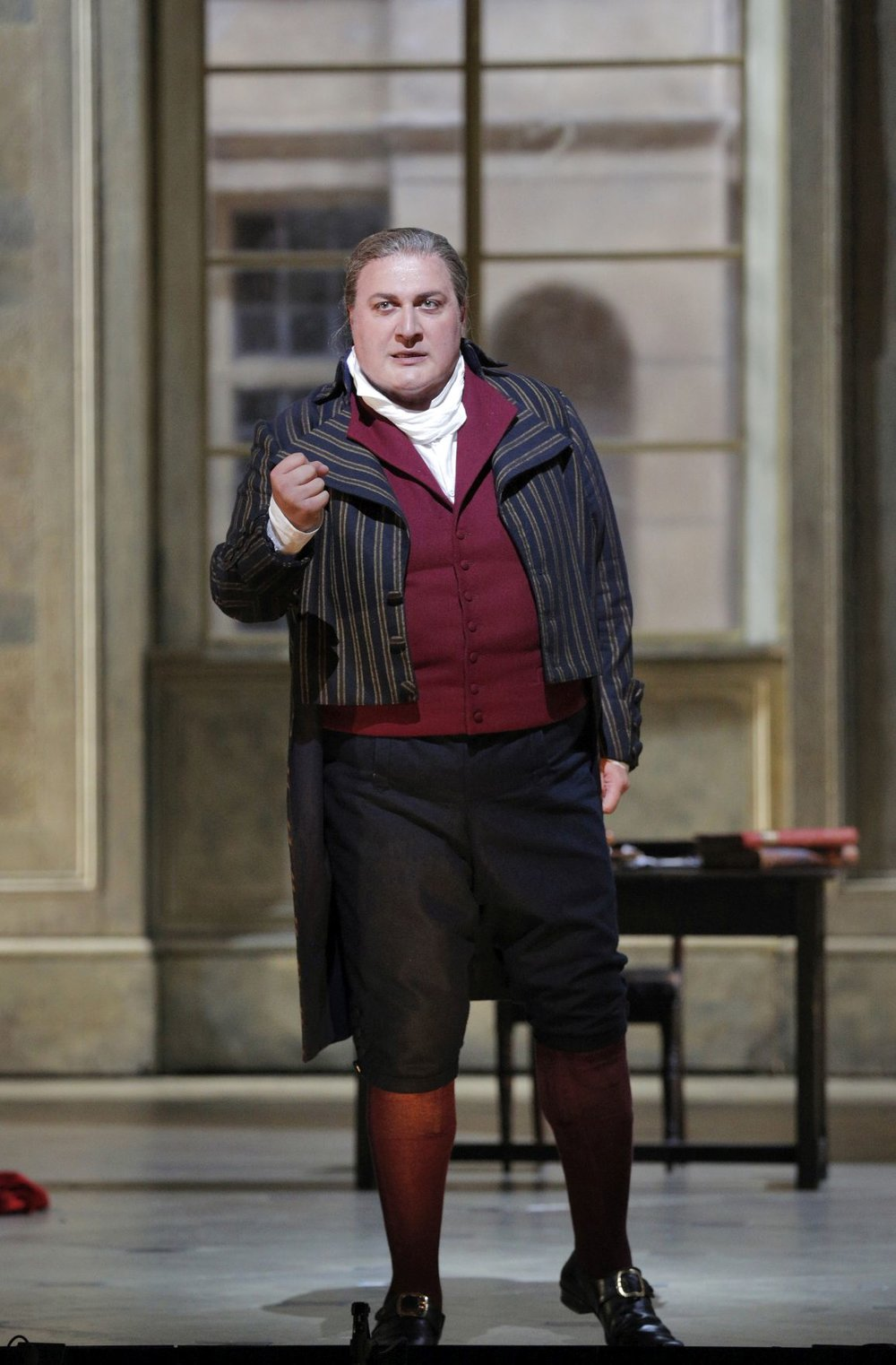 "As Carlo Gerard in ""Andrea Chenier"", San Francisco Opera 2016, Photo: Cory Weaver"