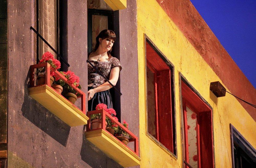 """Laura Krumm as Lola in """"Cavalleria Rusticana"""""""
