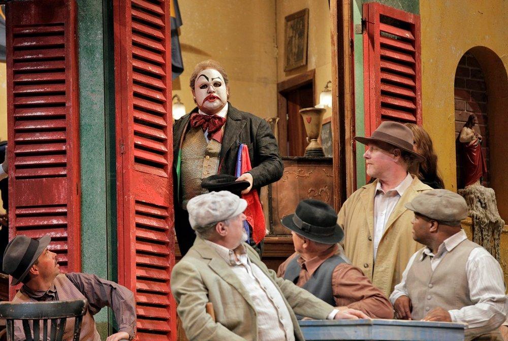 """Marco Berti (center) as Canio in """"Pagliacci"""""""