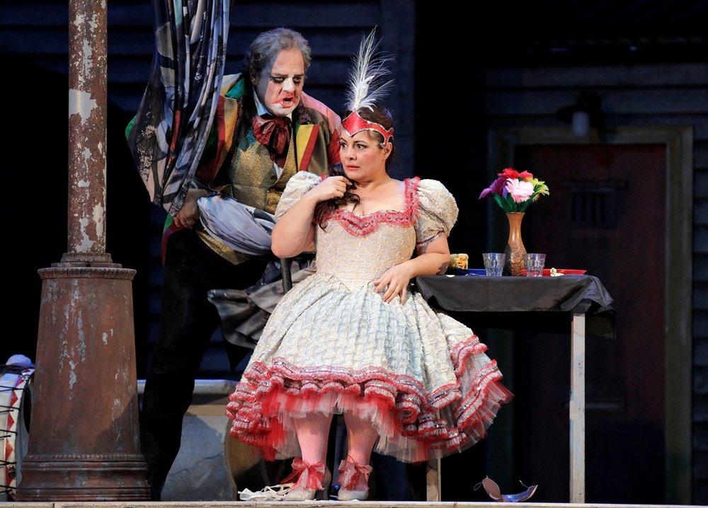 "Marco Berti as Canio and Lianna Haroutounian as Nedda in ""Pagliacci"""