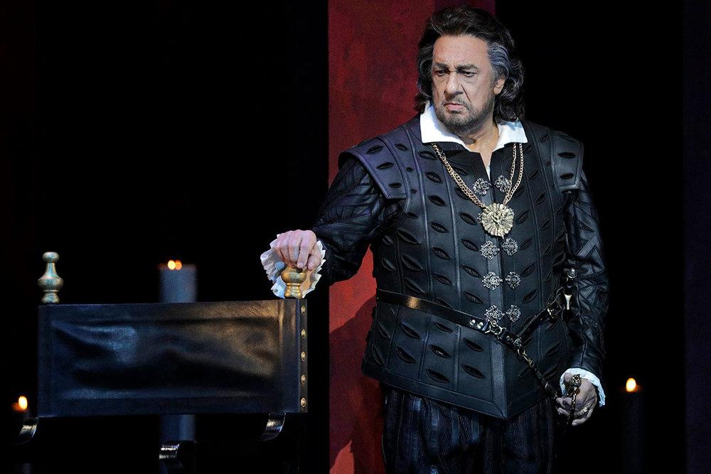 Domingo as Rodrigo, the Marquis of Posa