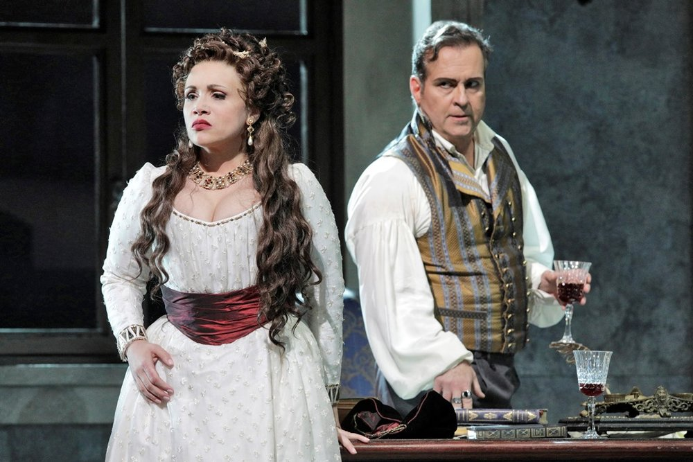 """Tosca"" Act 2 - Carmen Giannattasio as Tosca, Scott Hendricks as Scarpia"
