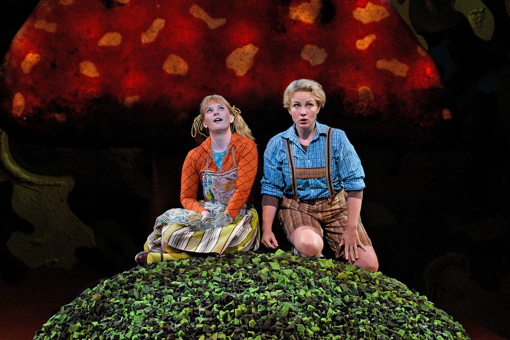 Liv Redpath and Sasha Cooke as Hansel and Gretel. Photo by Karen Almond, LA Opera