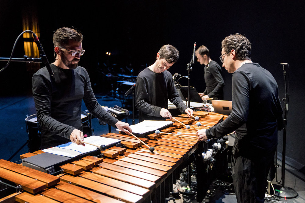 Third Coast Percussion in  Perfectly Voiceless . Photo by Todd Rosenberg.