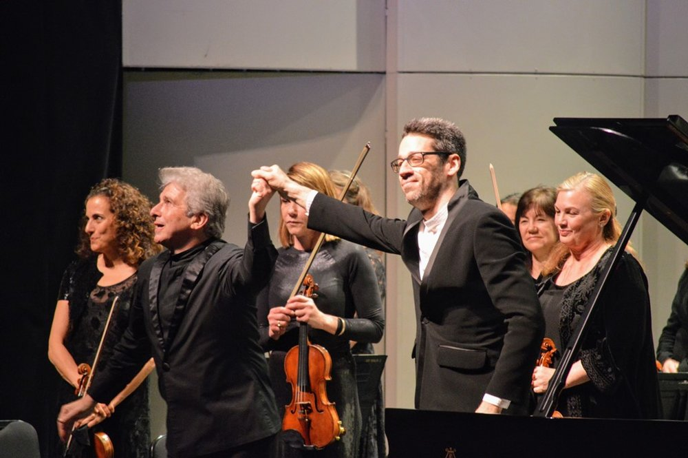 Conductor Peter Oundjian, pianist Jonathan Biss, Los Angeles Chamber Orchestra