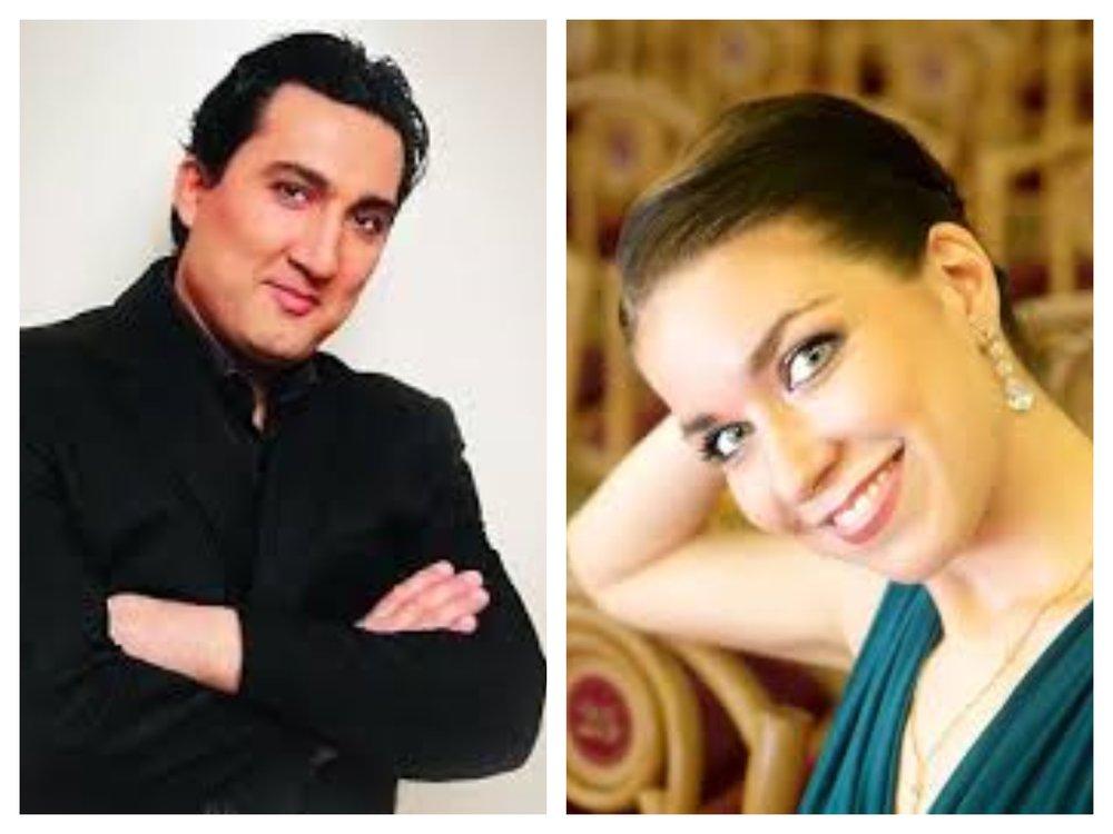 Tenor Nazhmiddin Mavlyanov, soprano Yekaterina Goncharova