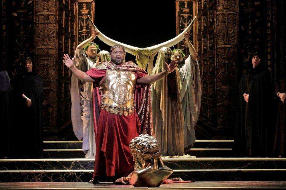 Tenor Russell Thomas as Tito in LA Opera's  La Clemenza di Tito