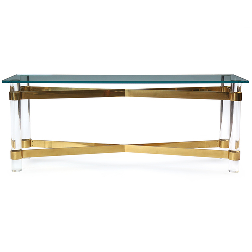 lucite and brass consolekarl springer — welcome