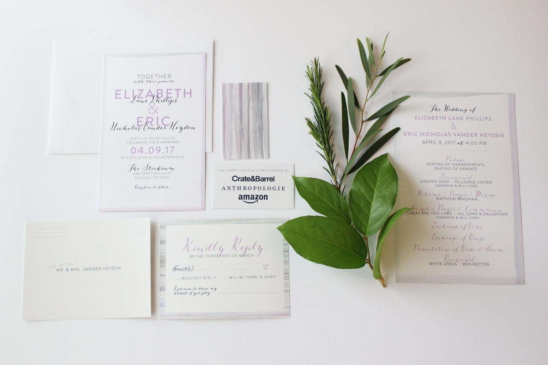 Vander Heyden Wedding Suite — Abbie Uthe Design